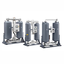 the Atlas Copco desiccant dryer range