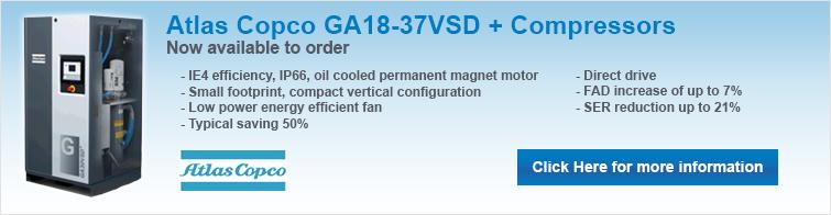 Atlas Copco GA18-37VSD+ Compressors