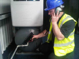 Leak Detection being carried out