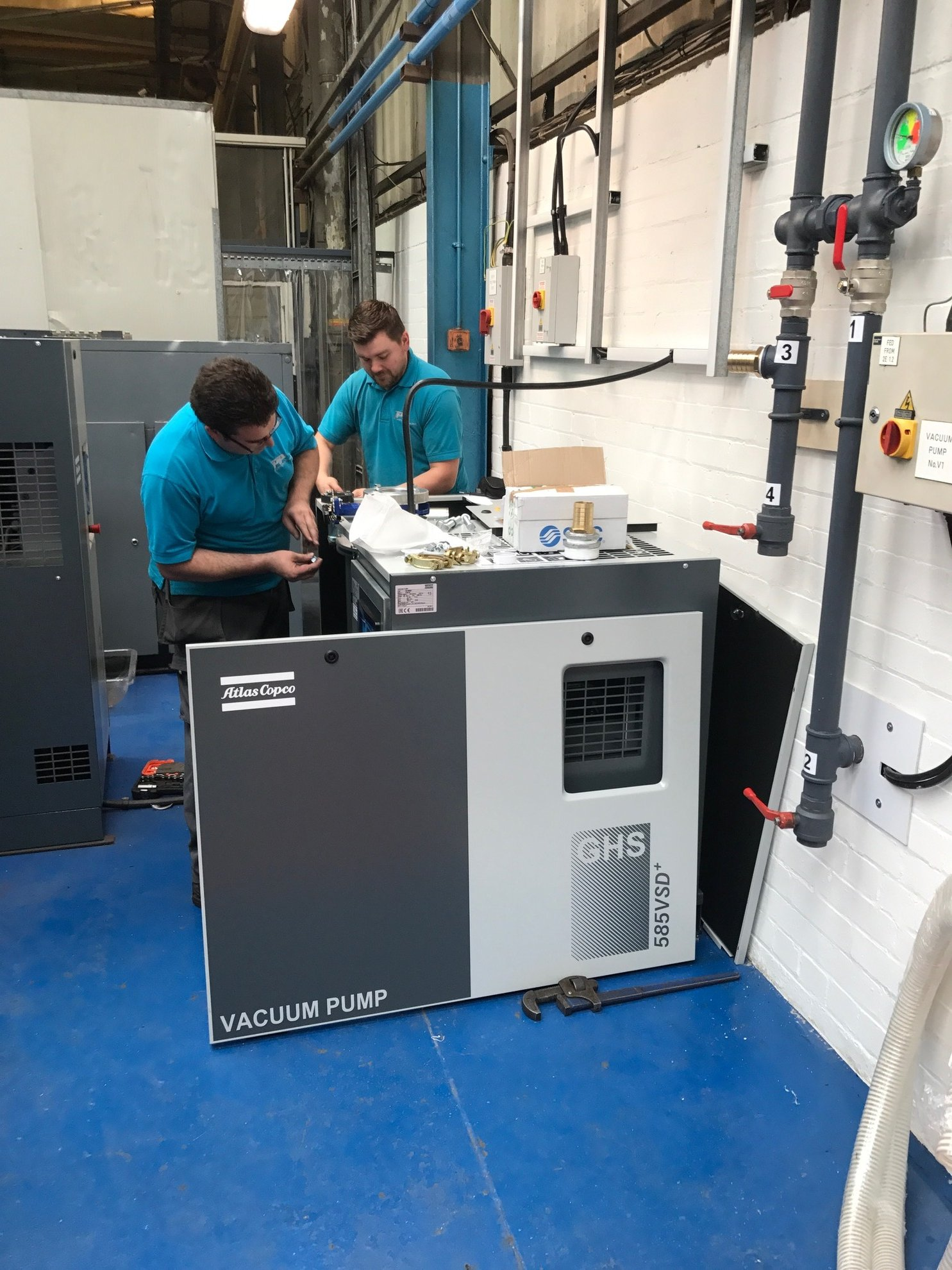 PPL Engineers installing equipment that will help Polyfab save £25,000 annually