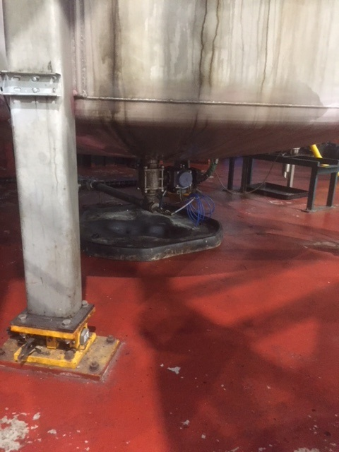 The old, manual ball valve creating a safety issue