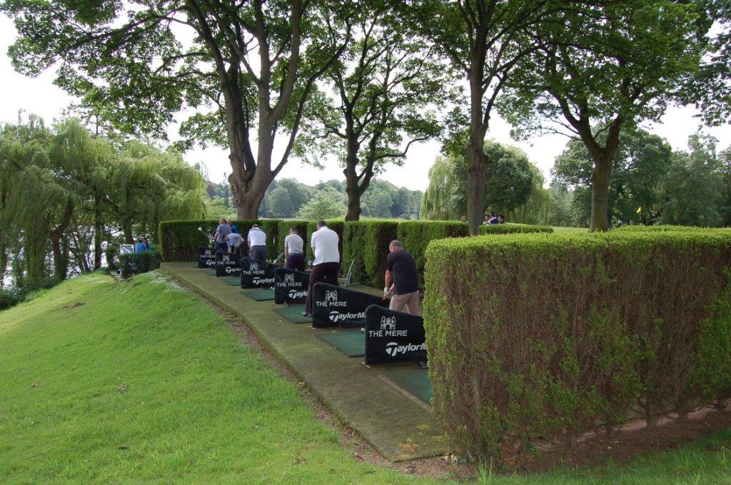 A number of players prepare for the 2017 Golf Day