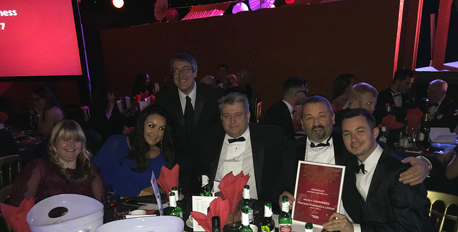 Precision Pneumatics recognised in 2017 Knowsley Business Awards