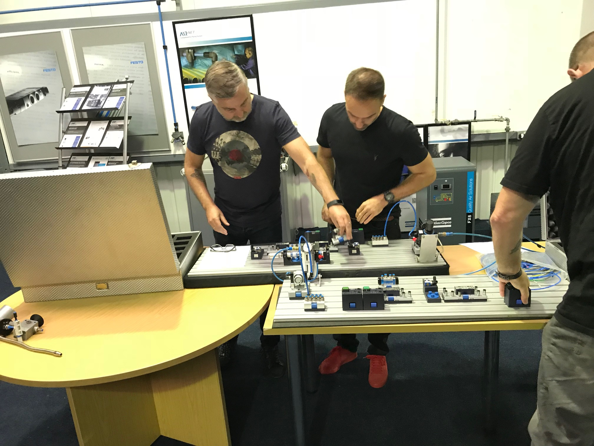 A practical session during the Fundamentals in Pneumatics course hosted by Precision Pneumatics