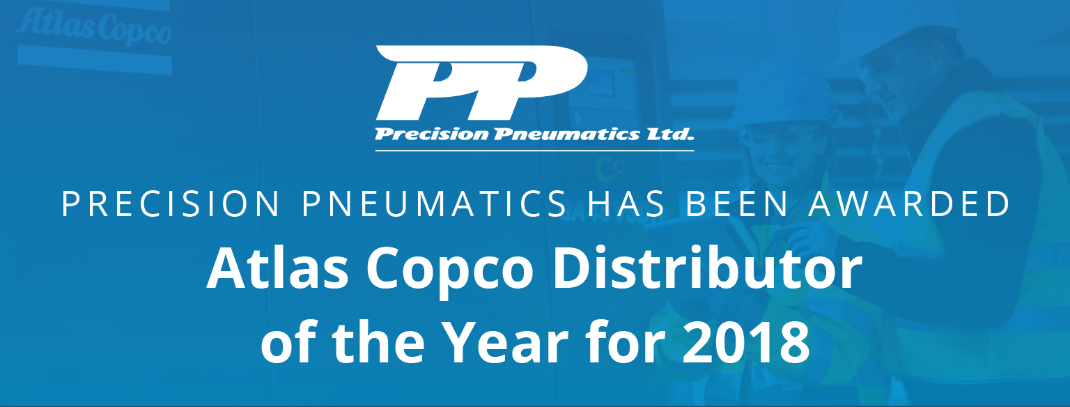 Precision Pneumatics named Atlas Copco Distributor of the Year!
