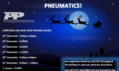 Our Christmas and New Year opening times