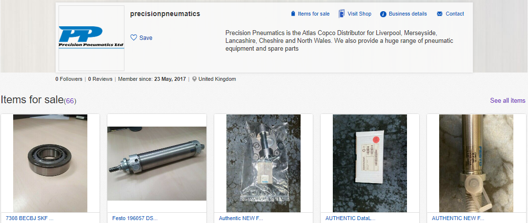 Precision Pneumatics is on eBay!
